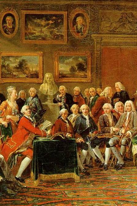Salon de Mme de Geoffrin (Lemonnier 1812, détail)